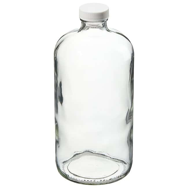 Thermo Scientific™ I-Chem™ Boston Round Narrow-Mouth Clear Glass Bottles with Closure