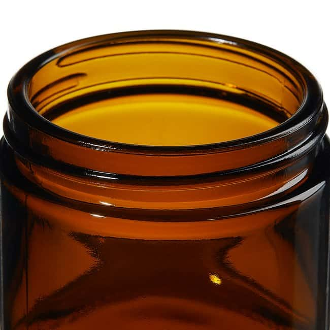 Thermo Scientific™I-Chem™ Wide-Mouth Short-Profile Amber Glass Jars with Closure