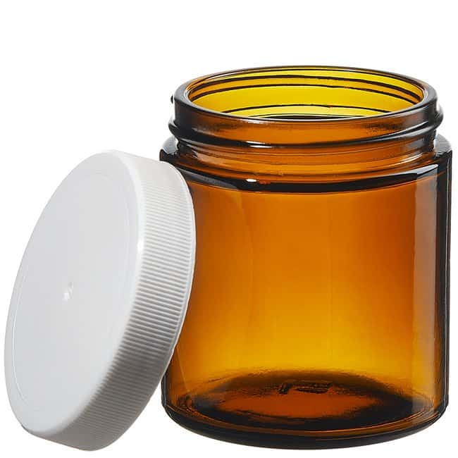 Thermo Scientific™ I-Chem™ Wide-Mouth Short-Profile Amber Glass Jars with Closure
