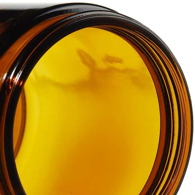 Thermo Scientific  I-Chem  Wide-Mouth Short-Profile Amber Glass Jars with Closure