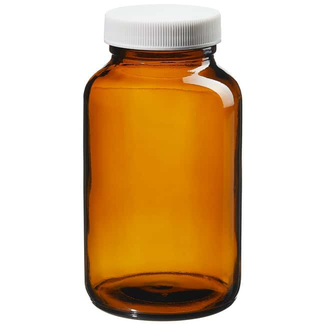 Thermo Scientific  I-Chem  Wide-Mouth Amber Glass Packer with Closure
