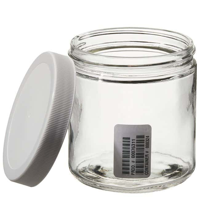 Thermo Scientific™Wide-Mouth Short-Profile Clear Glass Jars with Closure