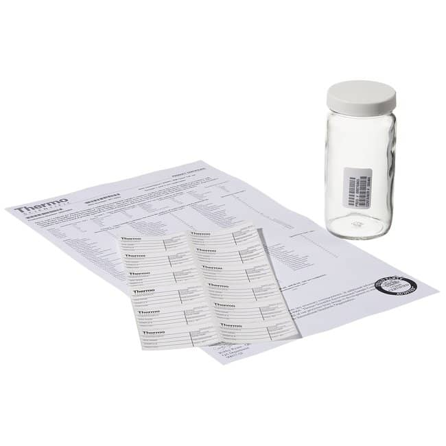 Thermo Scientific  Wide-Mouth Tall-Profile Clear Glass Jars with Closure
