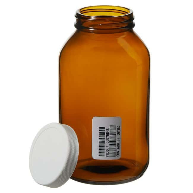 Thermo Scientific™ I-Chem™ Wide-Mouth Amber Glass Packer with Closure