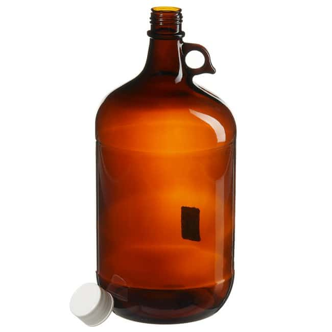 Thermo Scientific  Boston Round Narrow-Mouth Amber Jugs with Closure