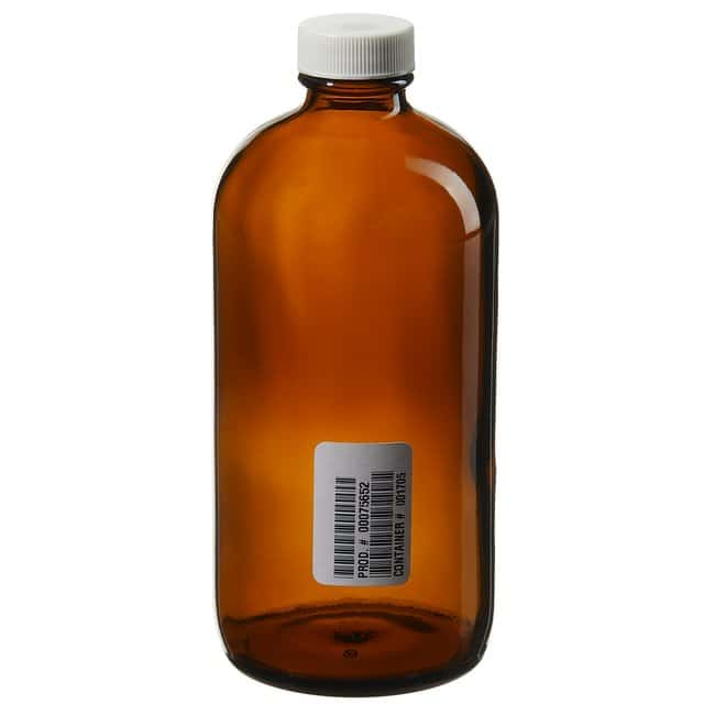 Thermo Scientific™ I-Chem™ Boston Round Narrow-Mouth Amber Glass Bottles with Closure