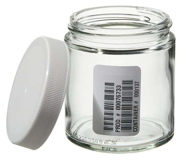 Thermo ScientificWide-Mouth VOA Glass Jars with Closure 125mL Clear short