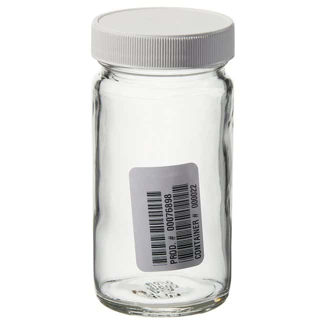 Thermo Scientific Wide-Mouth VOA Glass Jars with Closure 125mL Clear tall