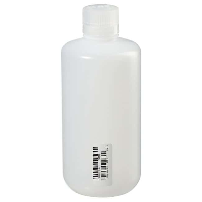 Thermo Scientific™ Nalgene™ Certified Narrow-Mouth HDPE Bottle with Polypropylene Screw Closure
