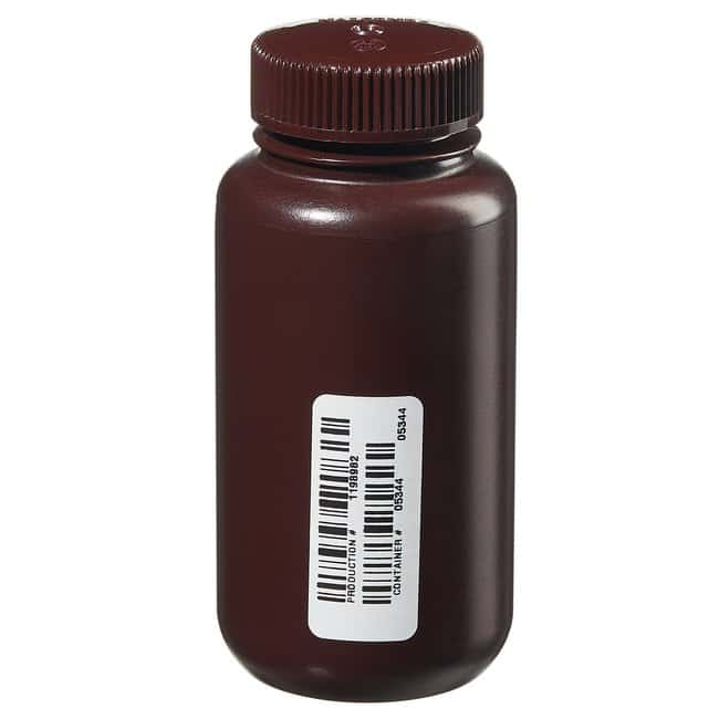 Thermo Scientific  Nalgene  Certified Wide-Mouth Amber HDPE Bottle with Closure