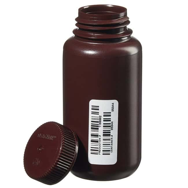 Thermo Scientific™Nalgene™ Certified Wide-Mouth Amber HDPE Bottle with Closure