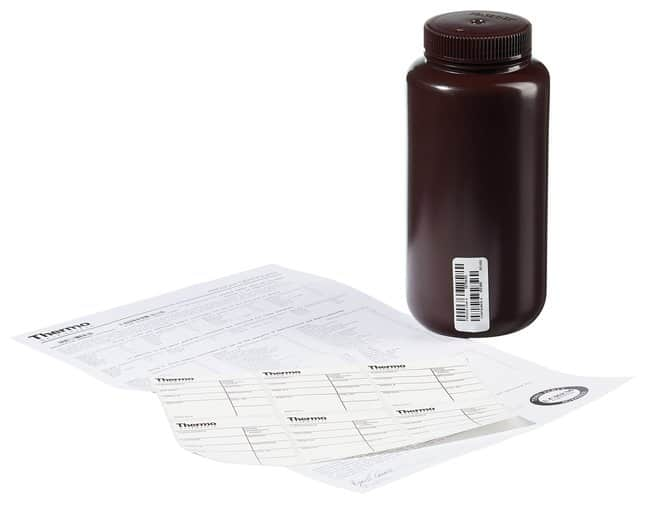 Thermo Scientific™ Nalgene™ Certified Wide-Mouth Amber HDPE Bottle with Closure