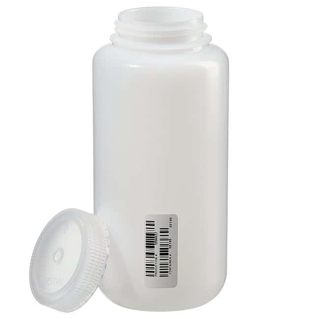 Thermo Scientific  Nalgene  Certified Wide-Mouth HDPE Bottle with Polypropylene Screw Closure