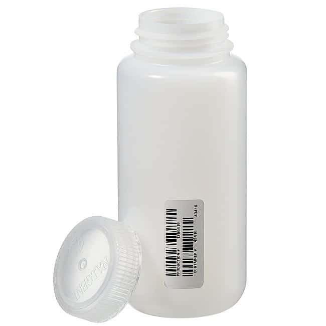 Thermo Scientific™ Nalgene™ Certified Wide-Mouth HDPE Bottle with Polypropylene Screw Closure