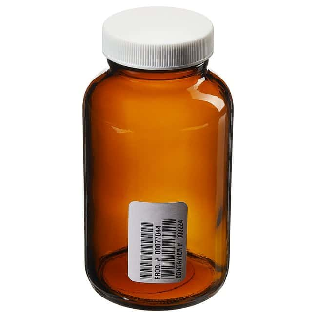 Fisherbrand™ Certified Cleaned Amber Wide Mouth Packer Bottles Capacity: 8 oz. (250mL) Fisherbrand™ Certified Cleaned Amber Wide Mouth Packer Bottles