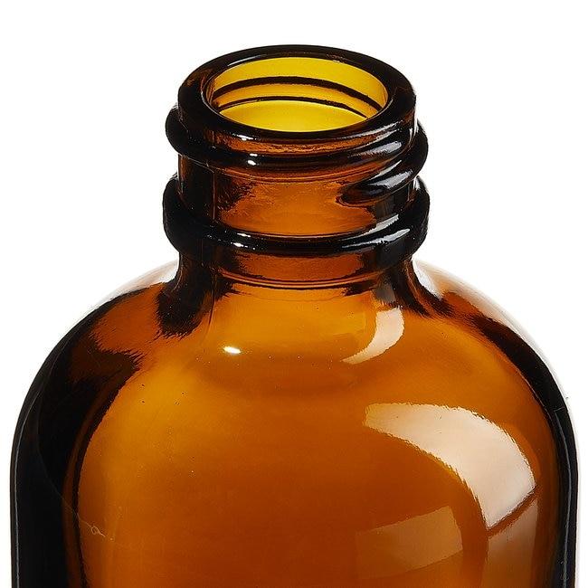 Fisherbrand™Custom Cleaned Amber Boston Round Bottles
