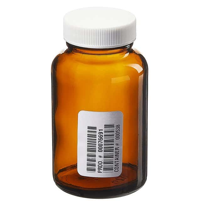 Fisherbrand™Custom Cleaned Amber Wide Mouth Packer Bottles Capacity: 4 oz. (125mL) Fisherbrand™Custom Cleaned Amber Wide Mouth Packer Bottles