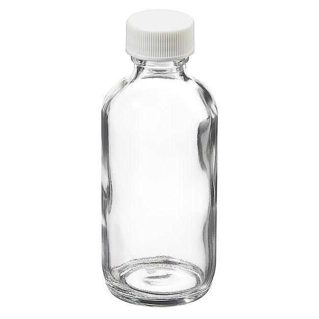 Fisherbrand™Custom Cleaned Clear Boston Round Bottles