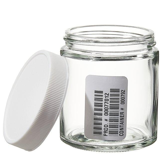 Fisherbrand™Zertifiziert reine durchsichtige geradwandige Dosen aus Glas 125ml (4oz) Produkte
