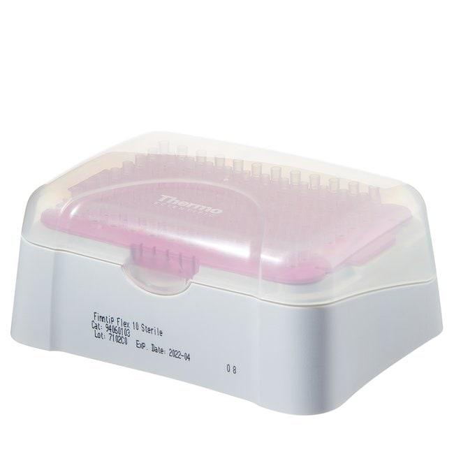 Thermo Scientific™Finntip™ Flex™ Pipette Tips Finntip™ Flex™ Pipette Tips; Volume: 0.1 to 10μL; Color code: Pink; Sterility: Non-sterile; Unit Size: 10 × Racks of 96 tips (960 tips in total) Thermo Scientific™Finntip™ Flex™ Pipette Tips