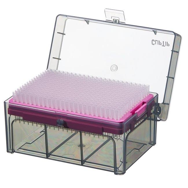 Thermo Scientific™ClipTip™ Pipettenspitzen im Format 384 ohne Filter ClipTip™Pipettenspitzen im 384er Format; Volumen: 0,5 bis 12,5μl; Farbcode: Rosa; Länge: 1,18in.; Sterilität: Unsteril; Einheitsgröße: 10× Gestelle mit 384Spitzen (3840Spitzen insgesamt) Produkte