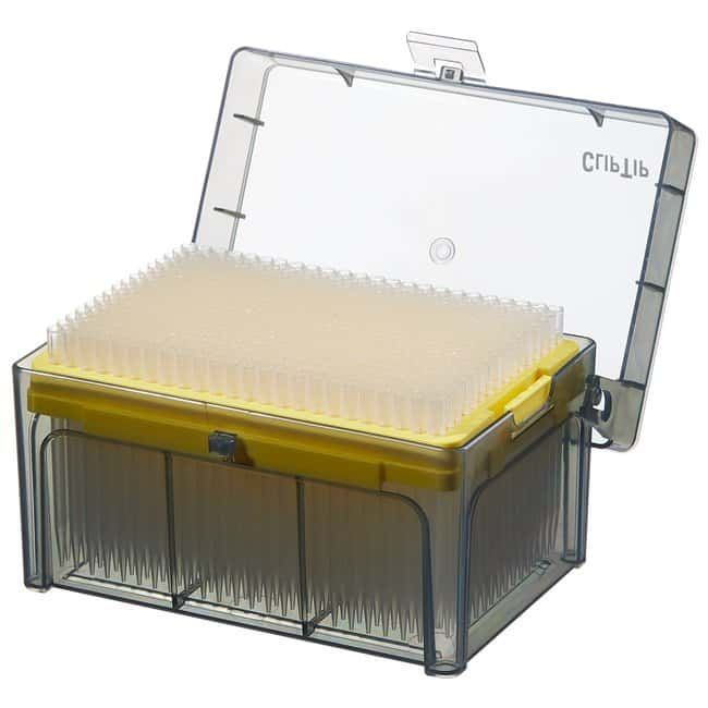 Thermo Scientific™ ClipTip™ Pipettenspitzen im Format 384 ohne Filter ClipTip™ 384-format Pipette Tips; Volume: 1 to 125μL; Color code: Yellow; Length: 2.52 in; Sterility: Sterile; Unit Size: 10 × Racks of 384 tips (3840 tips in total) Produkte