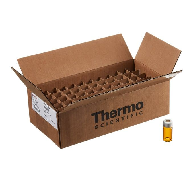Thermo ScientificI-Chem and EP Amber VOA Glass Vials with 0.125in. Septa,