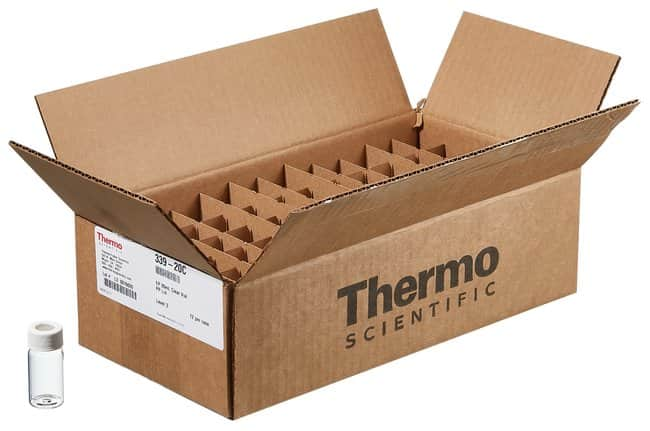 Thermo Scientific™ I-Chem™ and EP™ Amber VOA Glass Vials with 0.125in. Septa, 40mL, certified, 40mL Vial amber 0.125 in. bonded septum certified