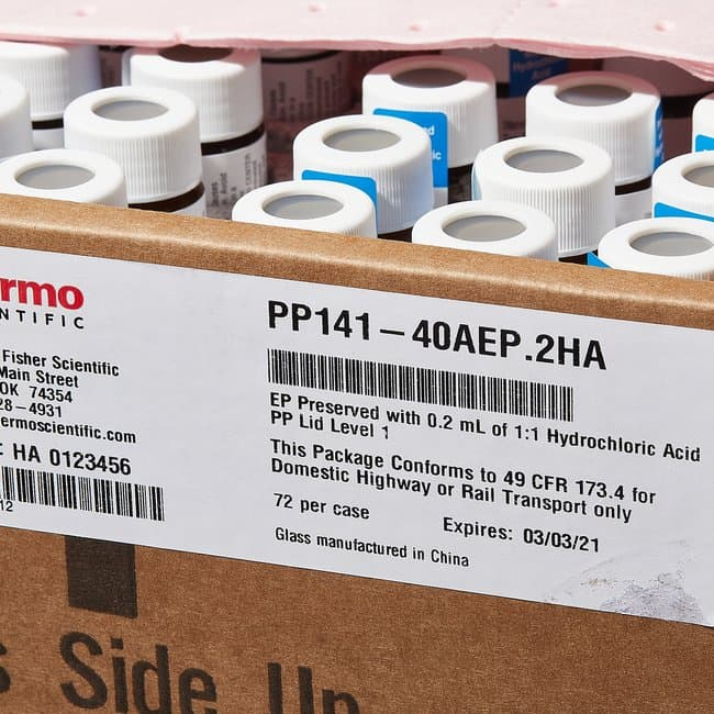 Thermo Scientific™ Pre-Preserved Environmental Sample Containers