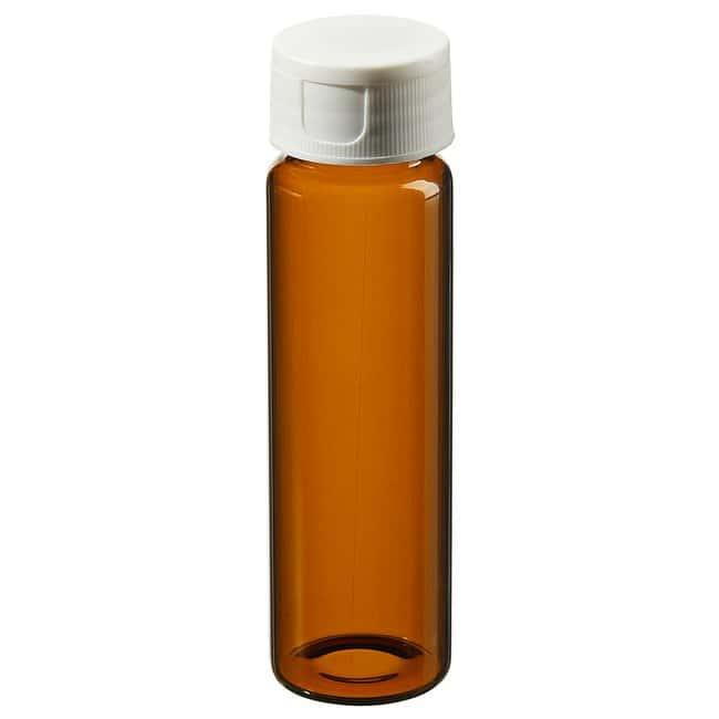 Thermo Scientific Amber Clean Snap Vials with 0.125in. Septa 40mL amber