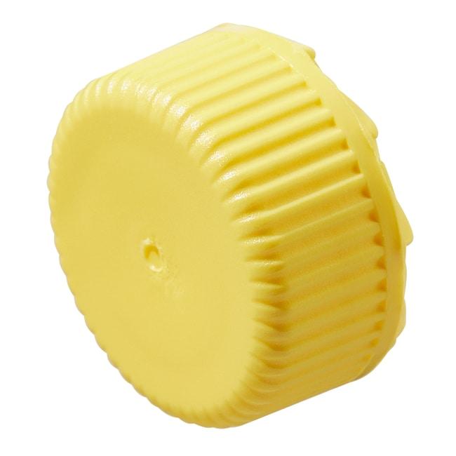 Thermo Scientific™Nalgene™ PPCO Low-Profile Closures for Micro Packaging Vials: Nonsterile, Bulk Pack Yellow, 11mm finish, bulk pack Thermo Scientific™Nalgene™ PPCO Low-Profile Closures for Micro Packaging Vials: Nonsterile, Bulk Pack