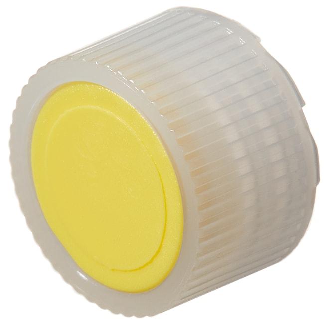 Thermo Scientific™Tapones de perfil alto de HDPE con codificadores cromáticos para viales de microenvasado Nalgene™: Estériles, envasados a granel Codificador amarillo, 11mm, embalaje a granel Thermo Scientific™Tapones de perfil alto de HDPE con codificadores cromáticos para viales de microenvasado Nalgene™: Estériles, envasados a granel