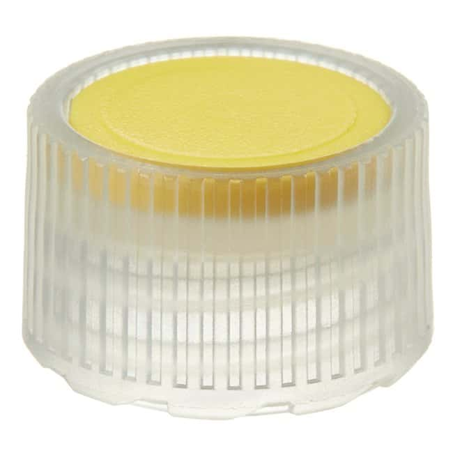 Thermo Scientific™ Nalgene™ PPCO High Profile Closures with Color Coders for Micro Packaging Vials: Nonsterile Yellow coder, 11mm, bulk pack Thermo Scientific™ Nalgene™ PPCO High Profile Closures with Color Coders for Micro Packaging Vials: Nonsterile