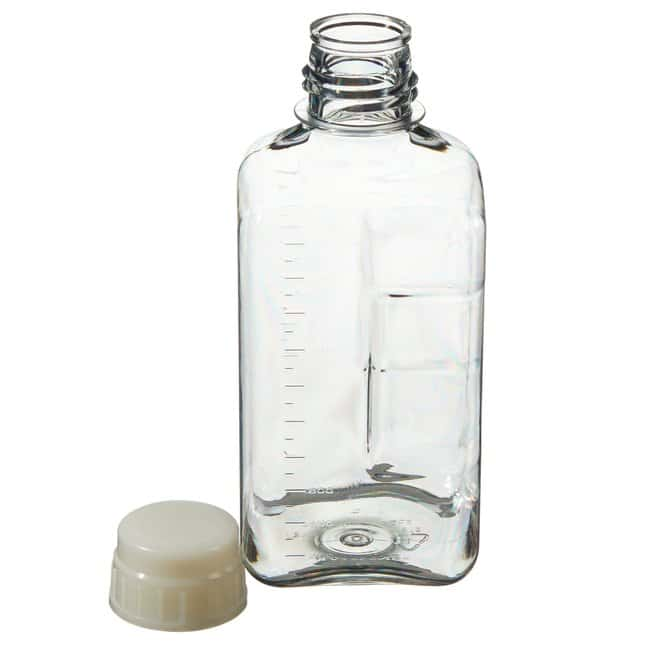 Thermo Scientific™Nalgene™ Square PETG Media Bottles with Closure: Sterile, Shrink-Wrapped Trays 2000mL, 53B closure, tray pack Thermo Scientific™Nalgene™ Square PETG Media Bottles with Closure: Sterile, Shrink-Wrapped Trays