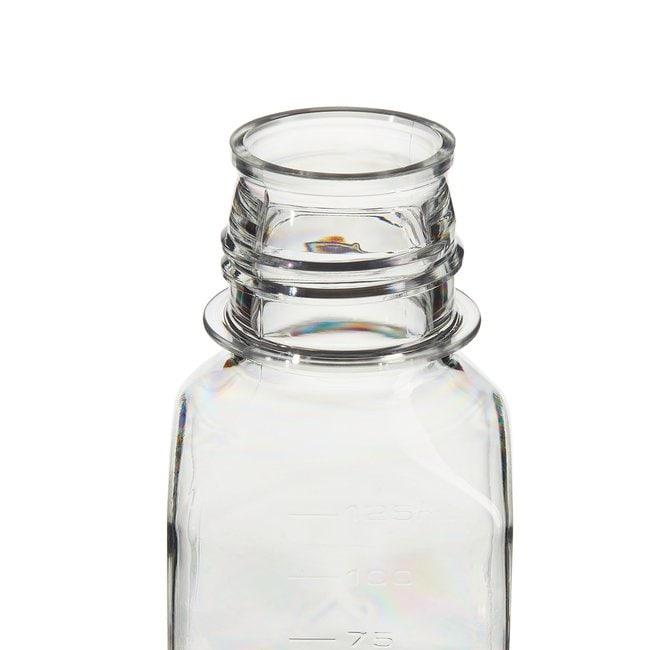 Thermo Scientific™Nalgene™ Square PETG Media Bottles with Septum Closure: Sterile, Shrink-Wrapped Trays 125mL, 38-430 closure, tray pack Thermo Scientific™Nalgene™ Square PETG Media Bottles with Septum Closure: Sterile, Shrink-Wrapped Trays