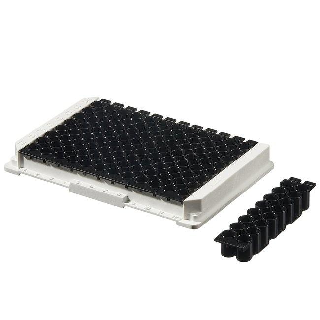 Thermo Scientific™Immuno Standard Modules White and Black Polysorp surface; Black; Flat bottom wells; 16 wells/strip Thermo Scientific™Immuno Standard Modules White and Black