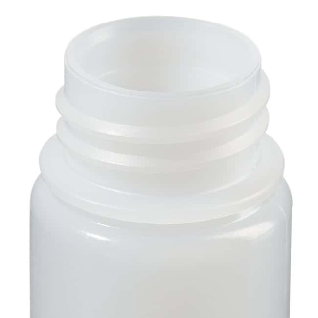 Fisherbrand™ Leakproof HDPE Wide-Mouth Bottles 1 oz. (30mL); Screw cap size: 28 Fisherbrand™ Leakproof HDPE Wide-Mouth Bottles