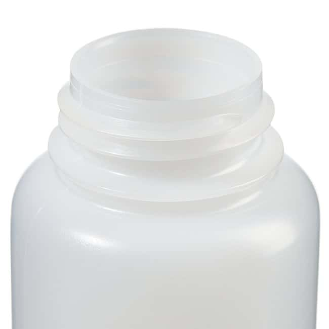 Fisherbrand™ Leakproof HDPE Wide-Mouth Bottles 8 oz. (250mL); Screw cap size: 43 Fisherbrand™ Leakproof HDPE Wide-Mouth Bottles