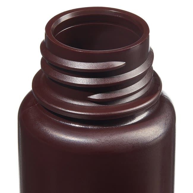 Fisherbrand™Amber HDPE Wide-Mouth Bottles Capacity: 2 oz. (60mL); 28mm screw cap size Fisherbrand™Amber HDPE Wide-Mouth Bottles
