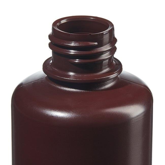 Fisherbrand™Amber HDPE Narrow-Mouth Bottles Capacity: 4 oz. (125mL); Screw cap size: 24mm-400; 12/Pk. Fisherbrand™Amber HDPE Narrow-Mouth Bottles