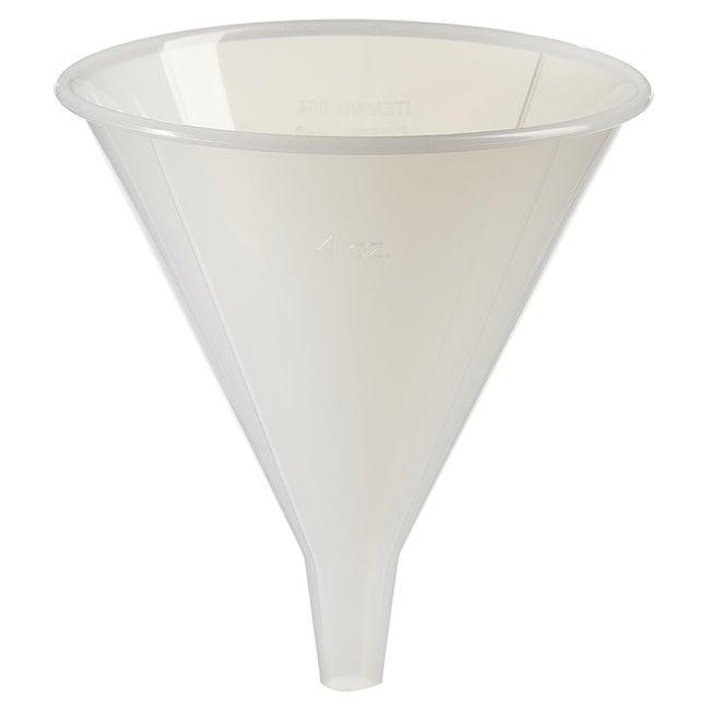Fisherbrand™Entonnoirs à usage général robustes Dia. supérieur x H: 84x100mm; Capacité: 100ml Fisherbrand™Entonnoirs à usage général robustes