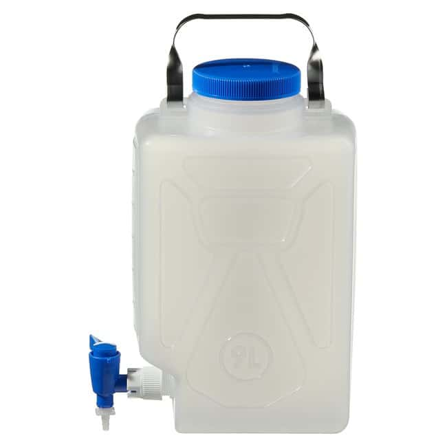 Fisherbrand™ Polypropylene, Rectangular Carboy with Spigot 9 L Fisherbrand™ Polypropylene, Rectangular Carboy with Spigot
