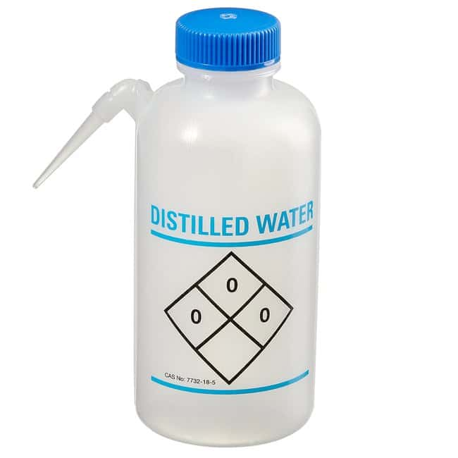 Fisherbrand™ Easy-Squeeze Wash Bottles, 6/Cs. For distilled water; 6/Cs. Fisherbrand™ Easy-Squeeze Wash Bottles, 6/Cs.