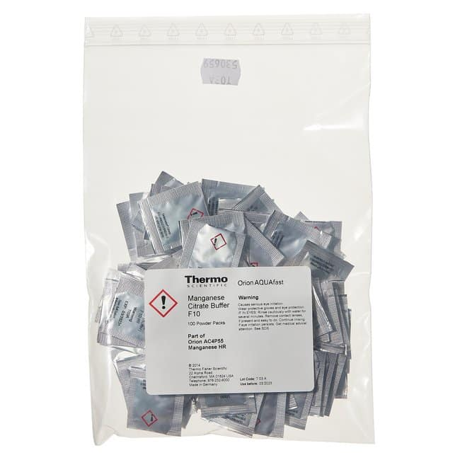 Thermo Scientific™Orion™ Powder Chemistry Packs Manganese, HR Thermo Scientific™Orion™ Powder Chemistry Packs