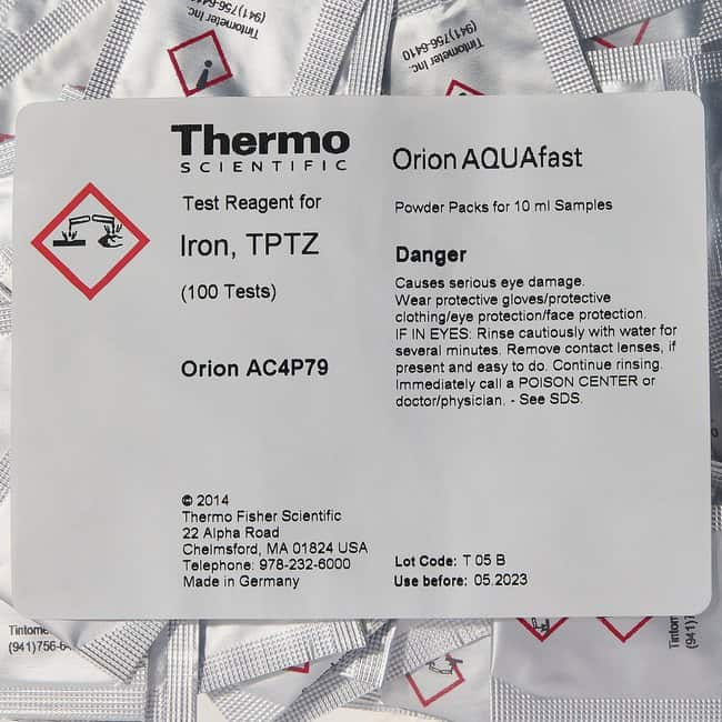 Thermo Scientific™Orion™ Pulverchemikalienpacks Iron, TPTZ Thermo Scientific™Orion™ Pulverchemikalienpacks