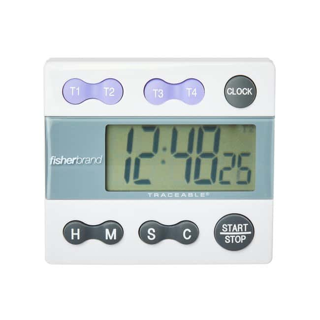 Fisherbrand™Traceable™ Four-Channel Countdown Alarm Digital Timer/Stopwatch with Memory Recall