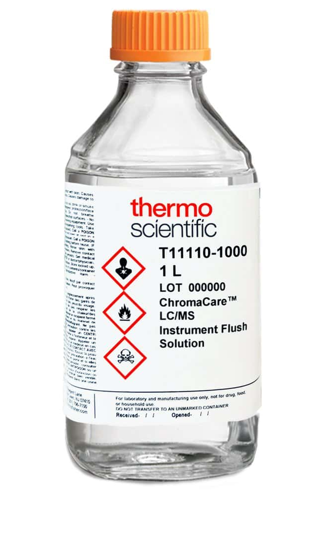 ChromaCare™ LC-MS Instrument Flush Solution, Thermo Scientific™ 1L; Borosilicate glass botle ChromaCare™ LC-MS Instrument Flush Solution, Thermo Scientific™