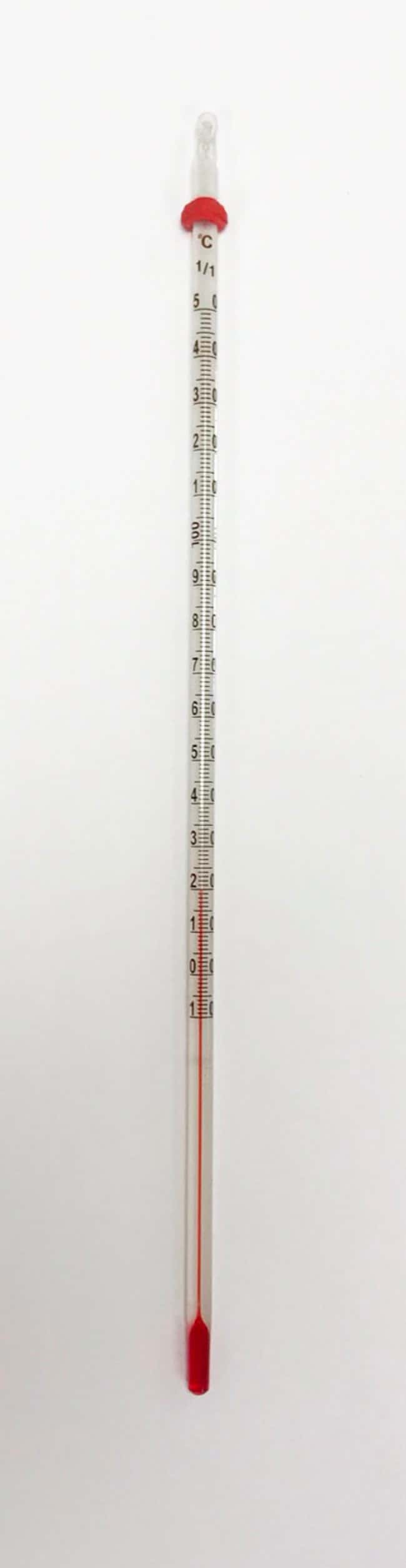 United Scientific Supplies Red Spirit Filled Thermometers  Partial Immersion,