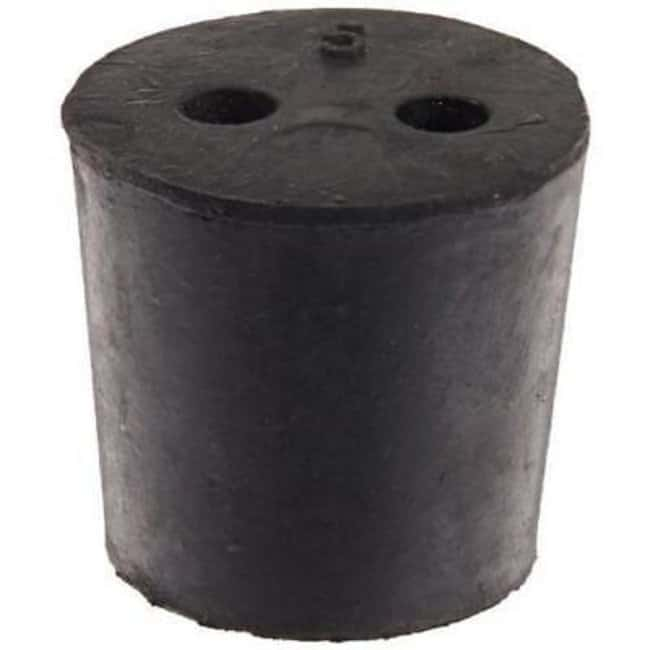 United Scientific Supplies Rubber 2-Hole Stoppers  2-hole, Size No. 2 to