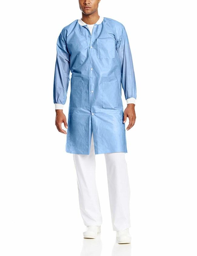 ValueMax™Easy-Breathe™ Lab Coats - Ceil Blue